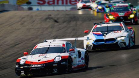 Porsche 911 RSR fährt in Watkins Glen aufs Podium