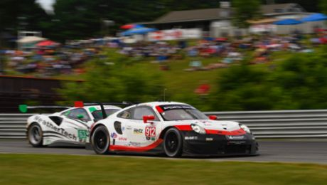 Podium for Porsche at Lime Rock Park in Lakeville