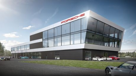 Neues Porsche Experience Center am Hockenheimring