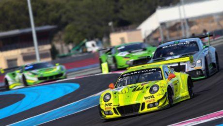 Platz zehn für Porsche 911 GT3 R in Le Castellet