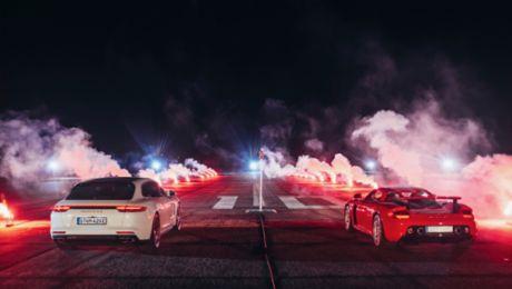 Porsche-Shootout mit Ausnahmesportlern