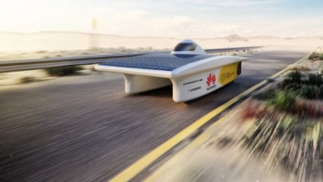Solar-powered vehicle: Porsche assists German team