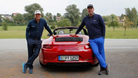 Ryder-Cup-Sieger im 911 Carrera 4 GTS Cabriolet
