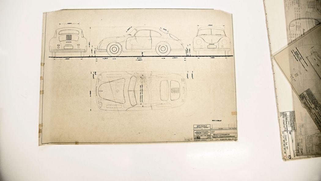 Porsche construction drawings, Weissach, 2018, Porsche AG