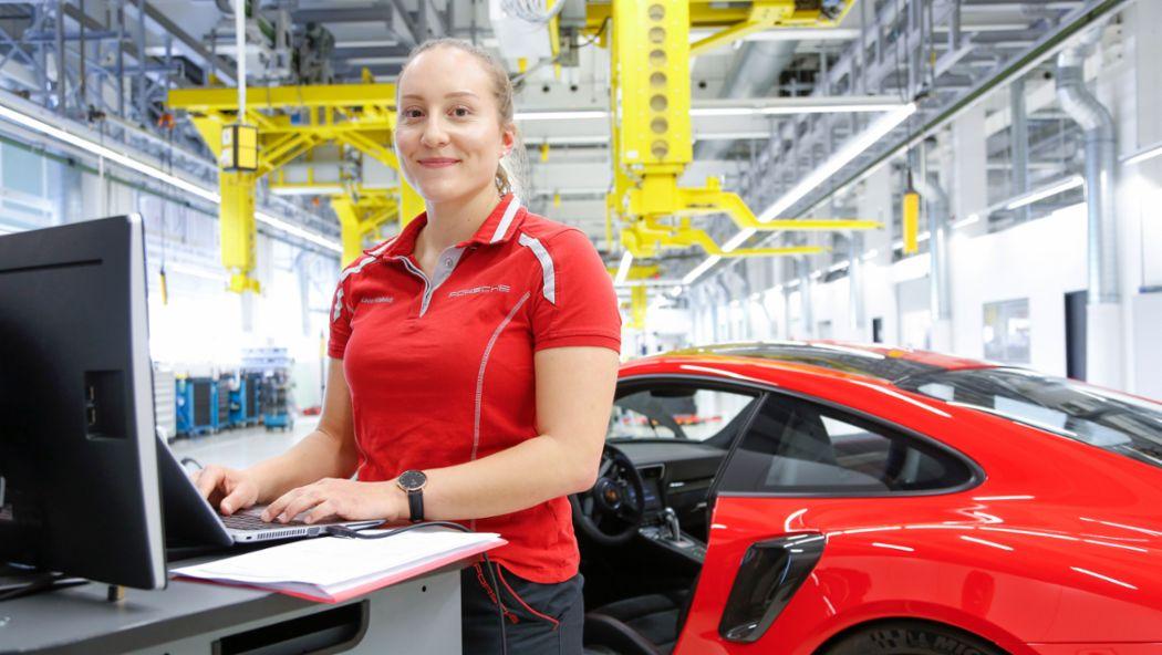 Laura Küblböck, Girls Day, 2018, Porsche AG