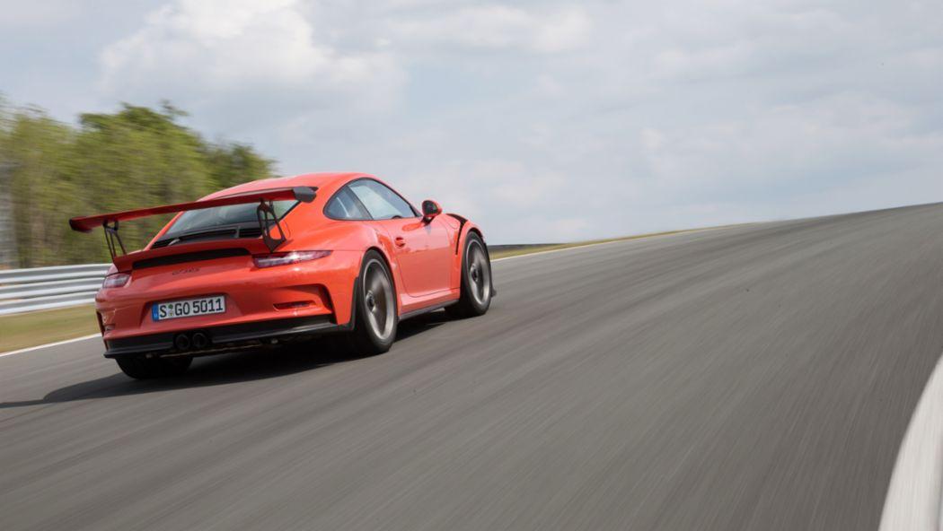 911 GT3 RS, Bilster Berg, 2015, Porsche AG
