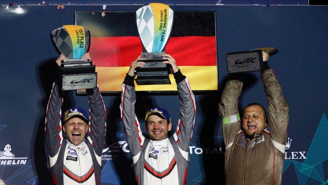 Gianmaria Bruni, Richard Lietz, l-r, Porsche GT Team, Rennen, 6. Lauf, WEC, Sebring, 2019, Porsche AG