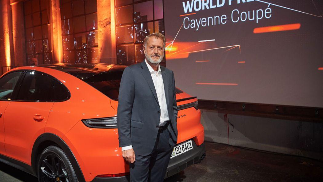 Detlev von Platen, Member of the Executive Board, Sales and Marketing, World premiere of the new Porsche Cayenne Coupé, Stuttgart, 2019, Porsche AG