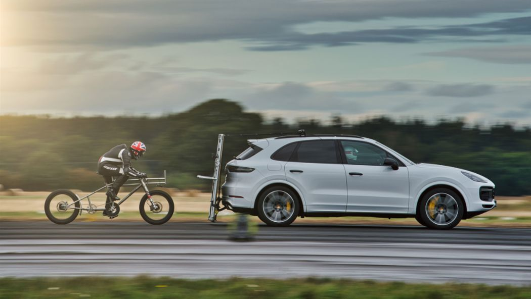 Porsche helps European bicycle land speed record to be broken