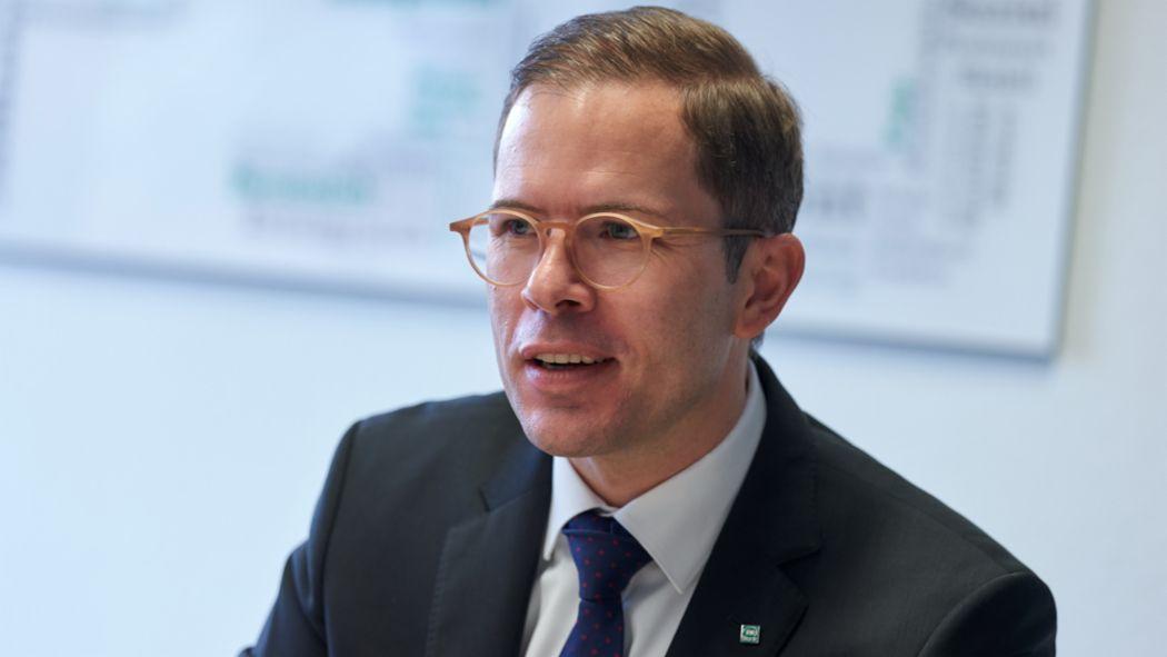 René Königshausen, Vorstandsvorsitzender der PSD Bank Köln, 2019, Porsche Consulting GmbH