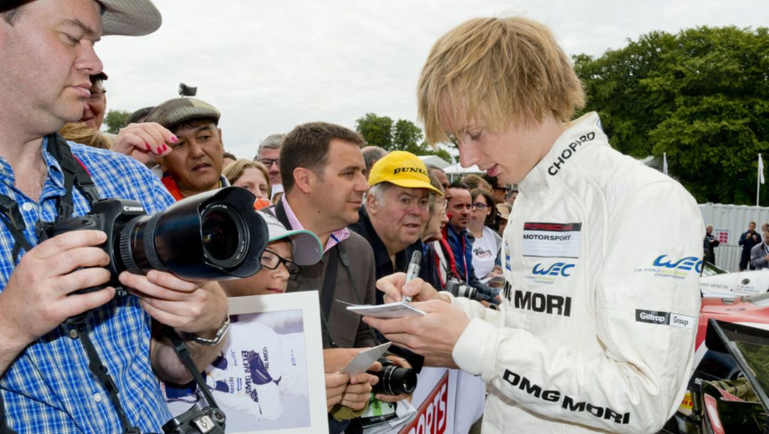 Brendon Hartley, Werksfahrer, Goodwood Festival of Speed, 2014, Porsche AG