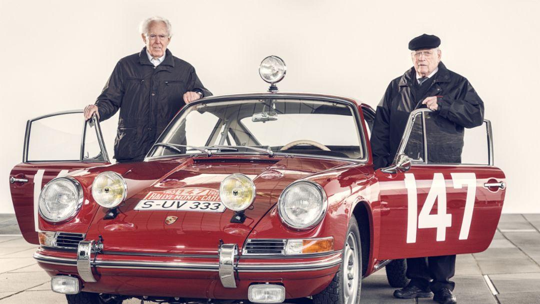 Peter Falk, Herbert Linge, Porsche Monte-Elfer, 2015, Porsche AG