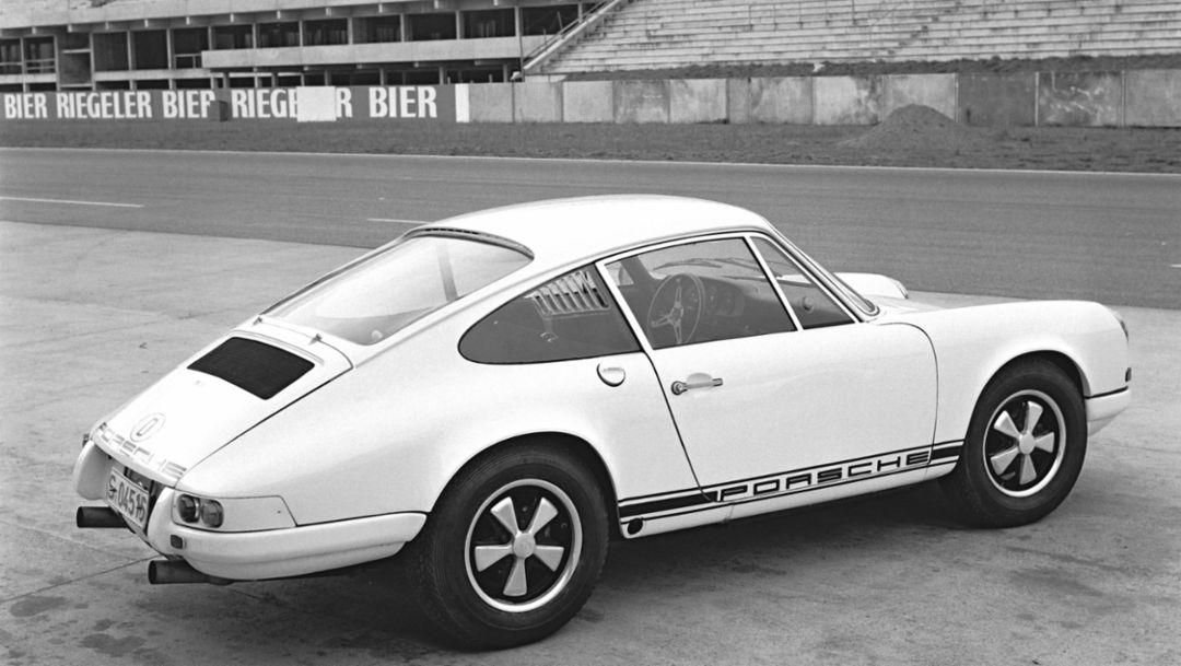 Porsche 911 R, Pressevorstellung in Hockenheim, Dezember 1967, Porsche AG