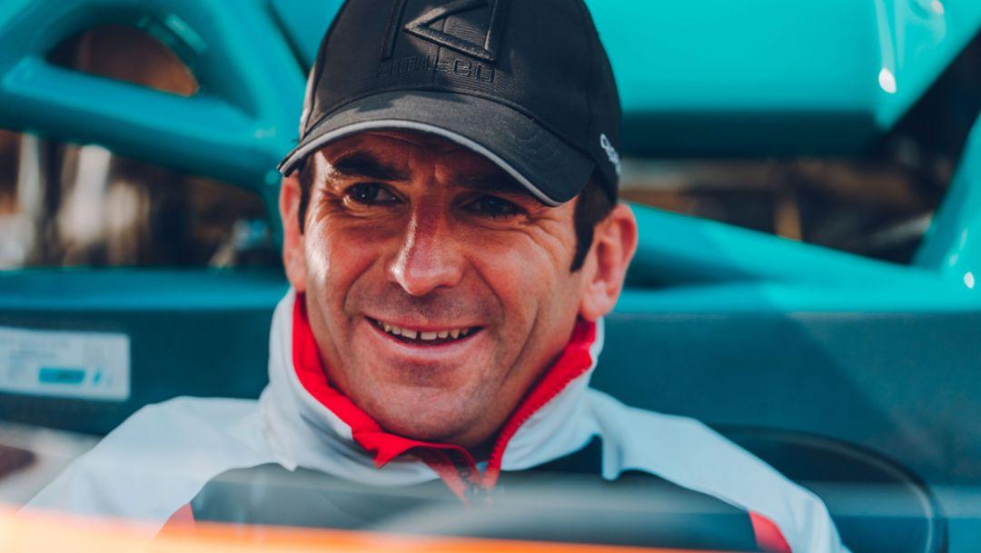 Romain Dumas, 77. Goodwood Members Meeting, Großbritannien, 2019, Porsche AG