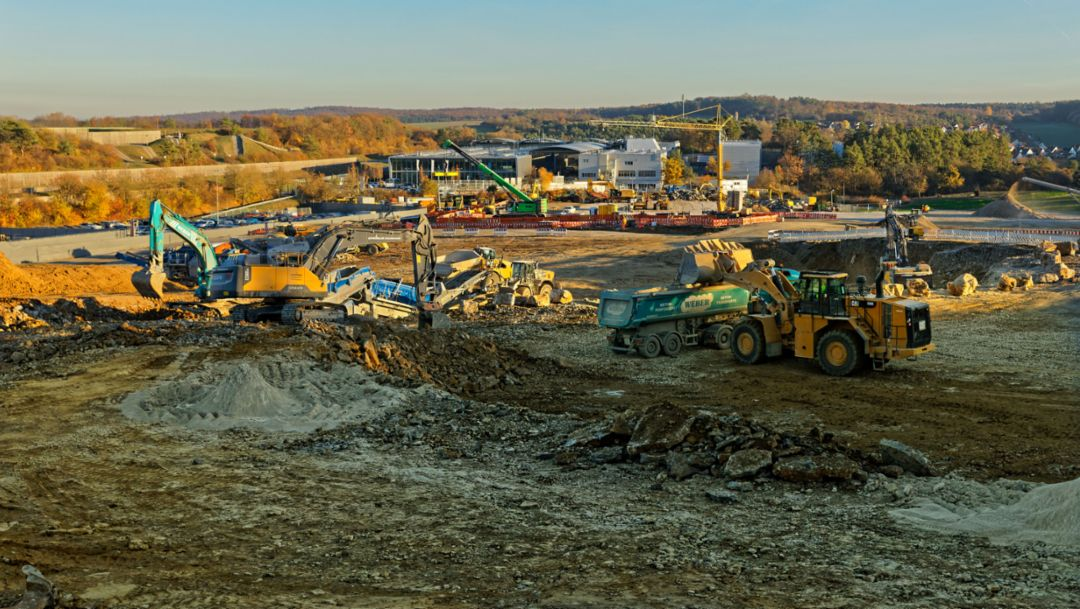 Bau der Südanbindung, Entwicklungszentrum Weissach, 2018, Porsche AG