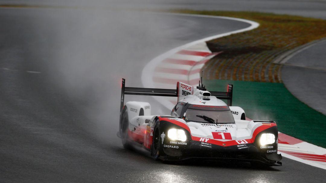 919 Hybrid, Neel Jani, Andre Lotterer, Nick Tandy, free practice, WEC, Fuji, 2017, Porsche AG