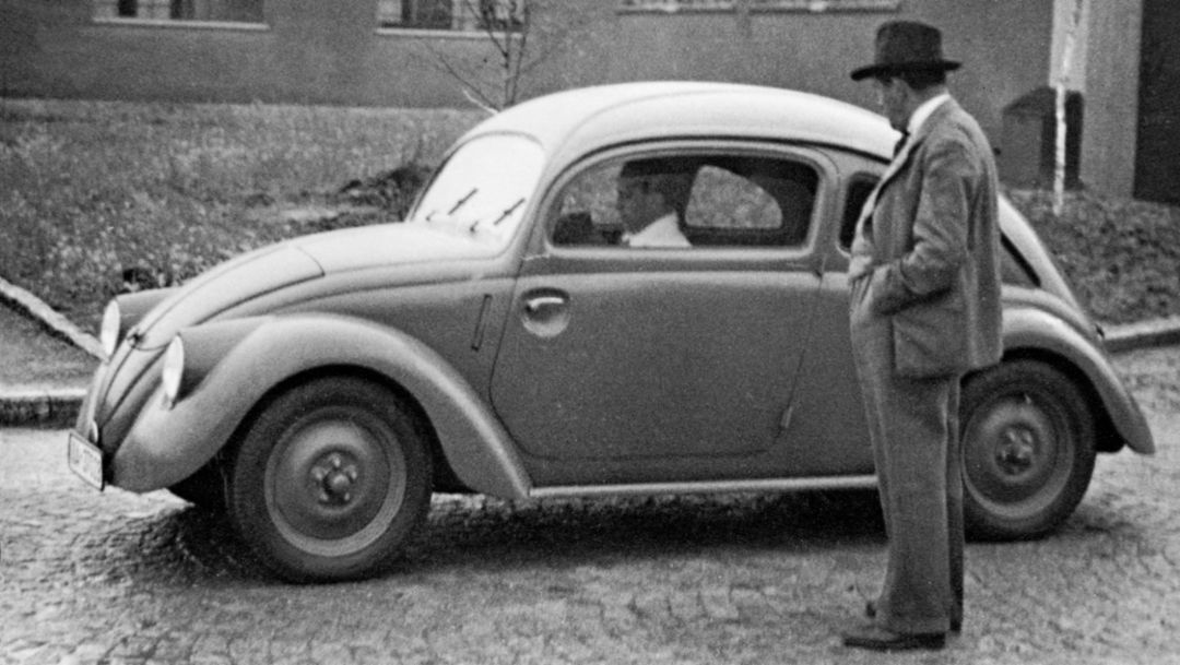 Ferdinand Porsche, Volkswagen prototype of the series W30, 1937, Porsche AG