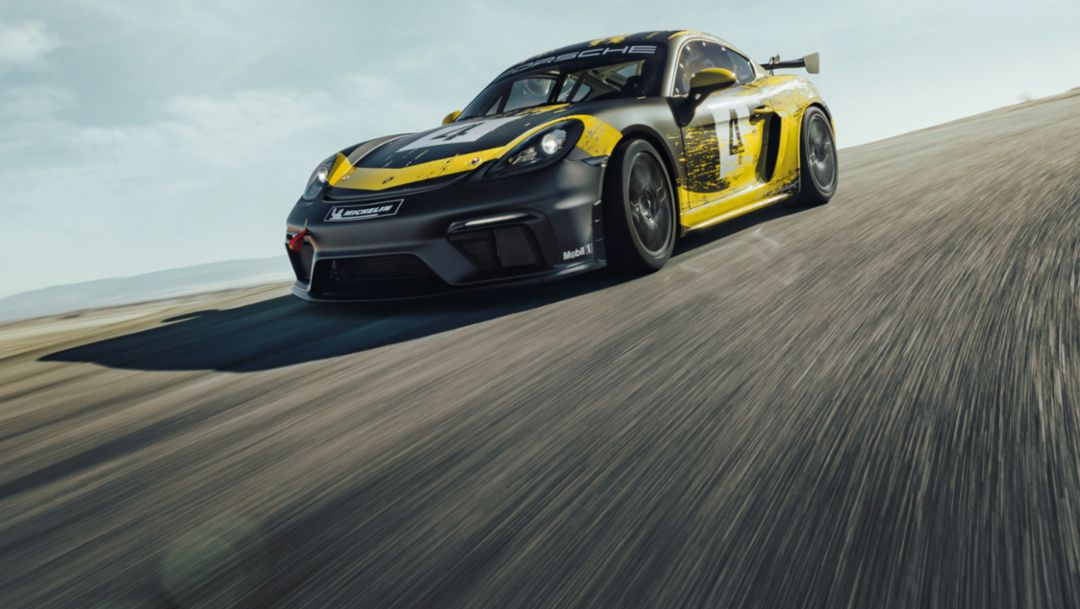 保时捷推出全新配备天然纤维车身组件的 718 Cayman GT4 Clubsport