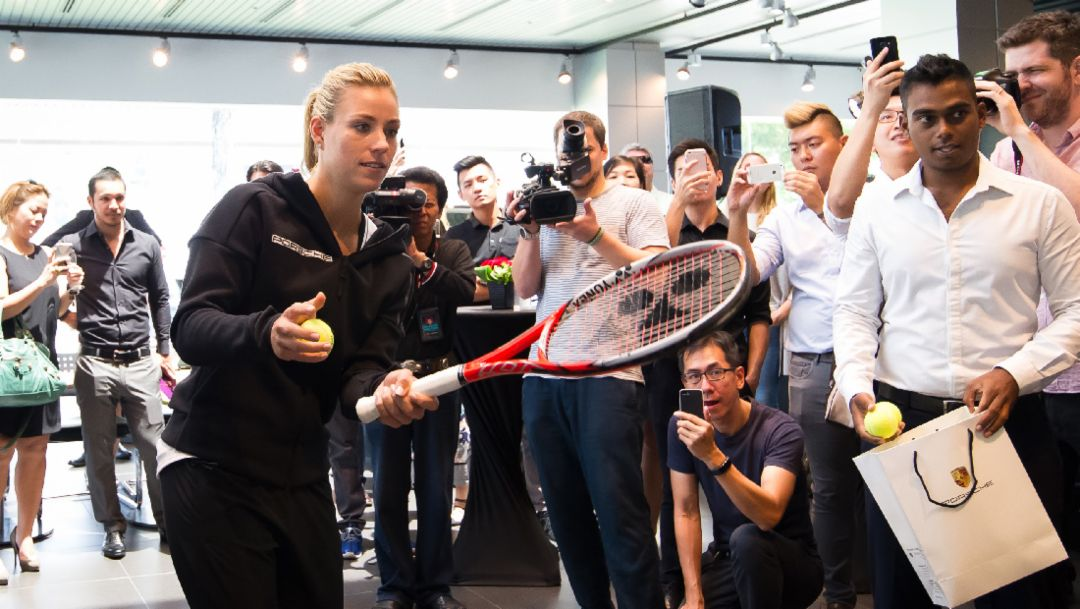Angelique Kerber, Porsche-Markenbotschafterin, Singapur, 2016, Porsche AG