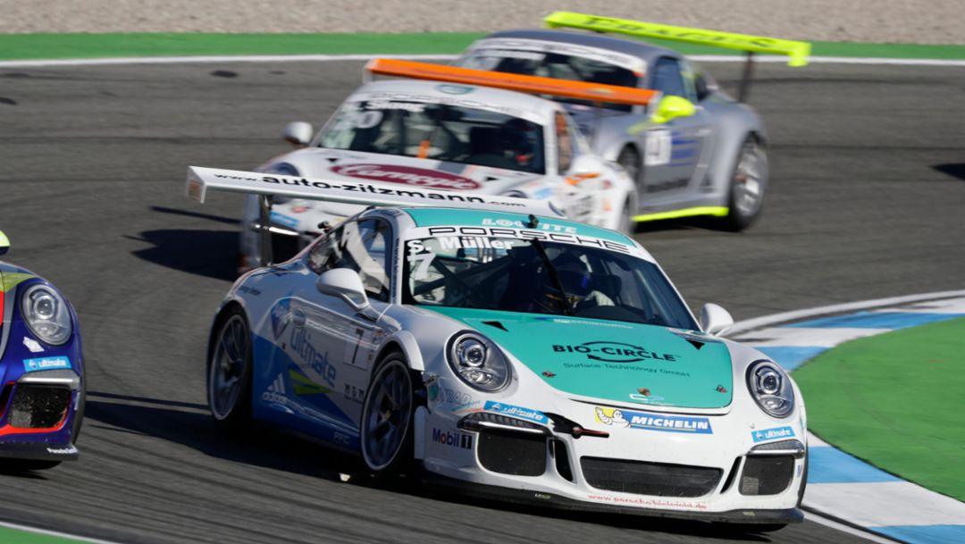 Sven Müller (D), Porsche Carrera Cup Deutschland, Hockenheimring, 2016, Porsche AG