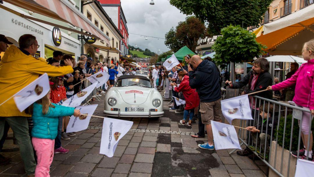 356 Speedster 1500 from 1955, Ennstal Classic, 07/20/2017, Porsche AG