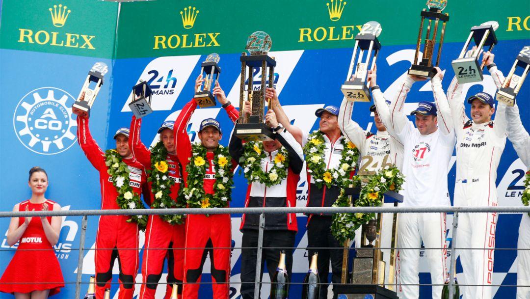 Doppelsieg für Porsche in Le Mans