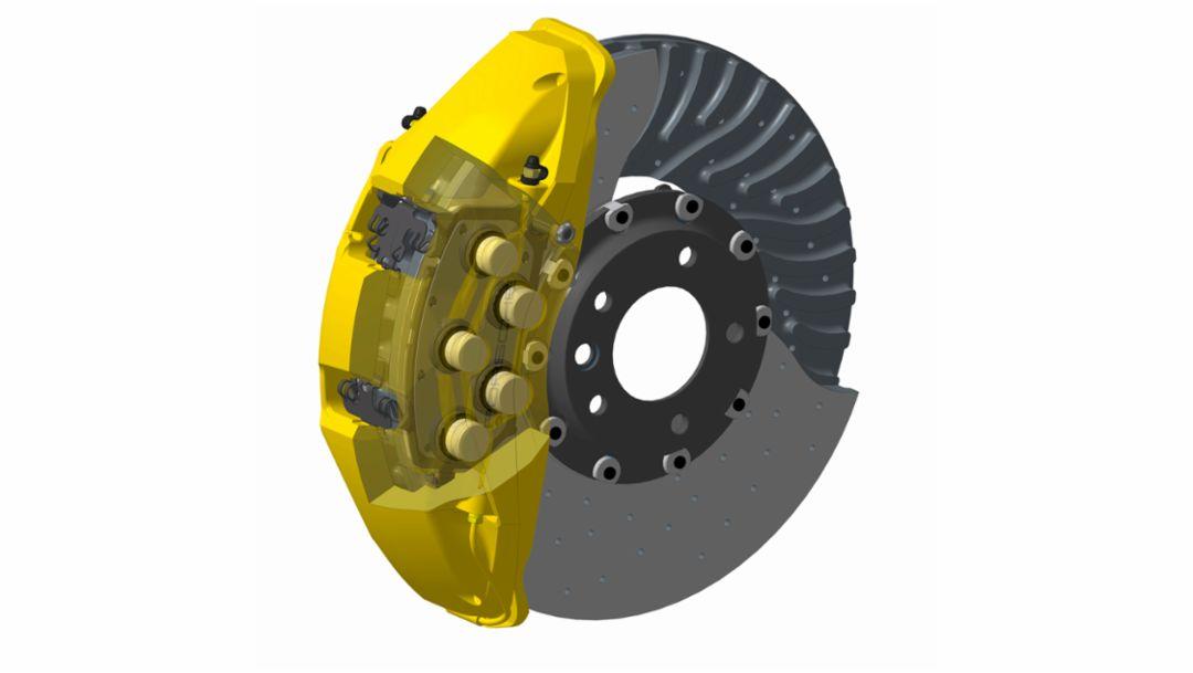 Ten-piston brake caliper, 2015, Porsche AG
