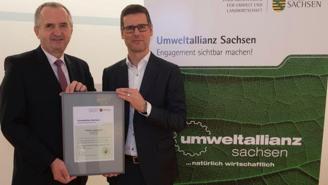 Porsche Leipzig tritt in die Umweltallianz Sachsen ein