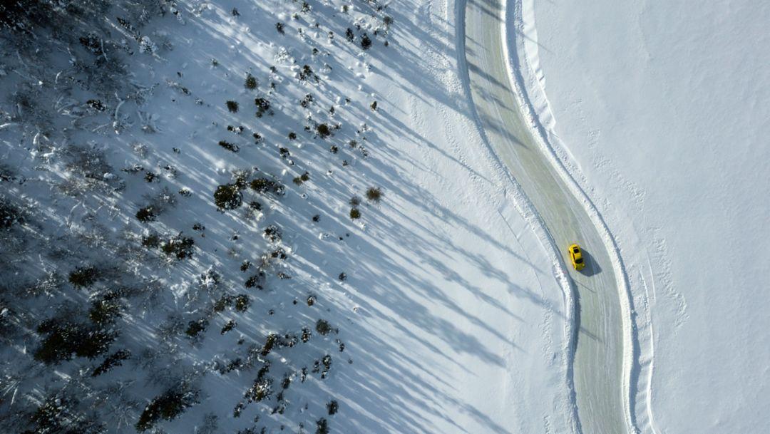 911 Carrera GTS, Porsche Ice Experience, Levi, Finnland, 2018, Porsche AG