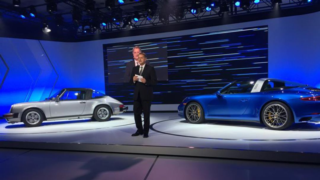 Detlev von Platen, Member of the Executive Board, Sales and Marketing, Los Angeles Auto Show, 2015, Porsche AG