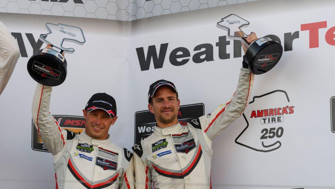 Patrick Pilet, Dirk Werner, Rennen, IMSA WeatherTech SportsCar Championship, Laguna Seca/USA, 2017, Porsche AG