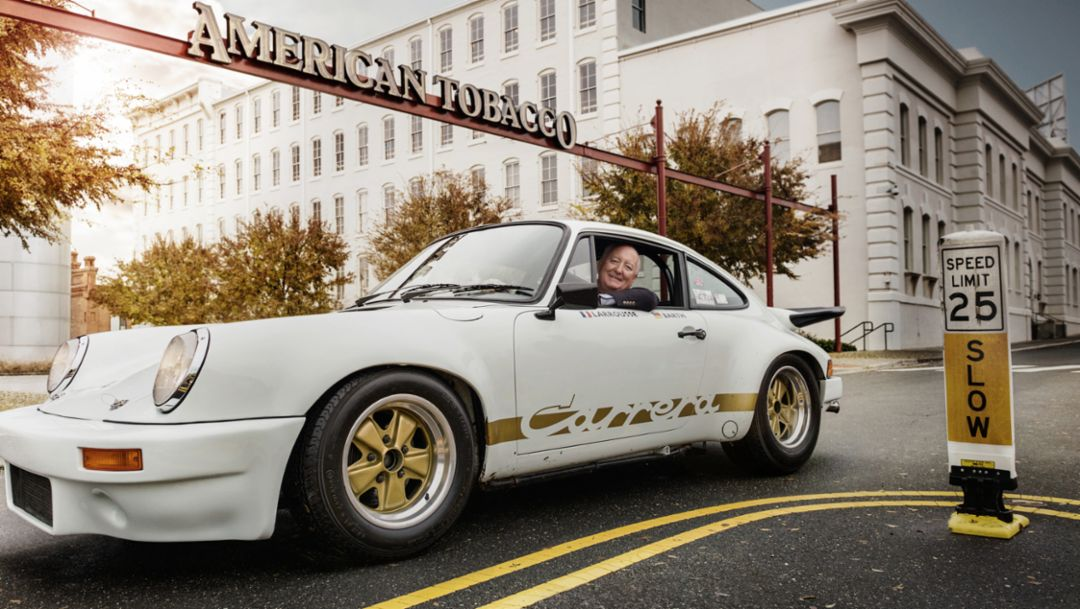 Bob Ingram, Porsche Sammler, 911 Carrera RS 3.0, Durham, North Carolina, 2014, Porsche AG