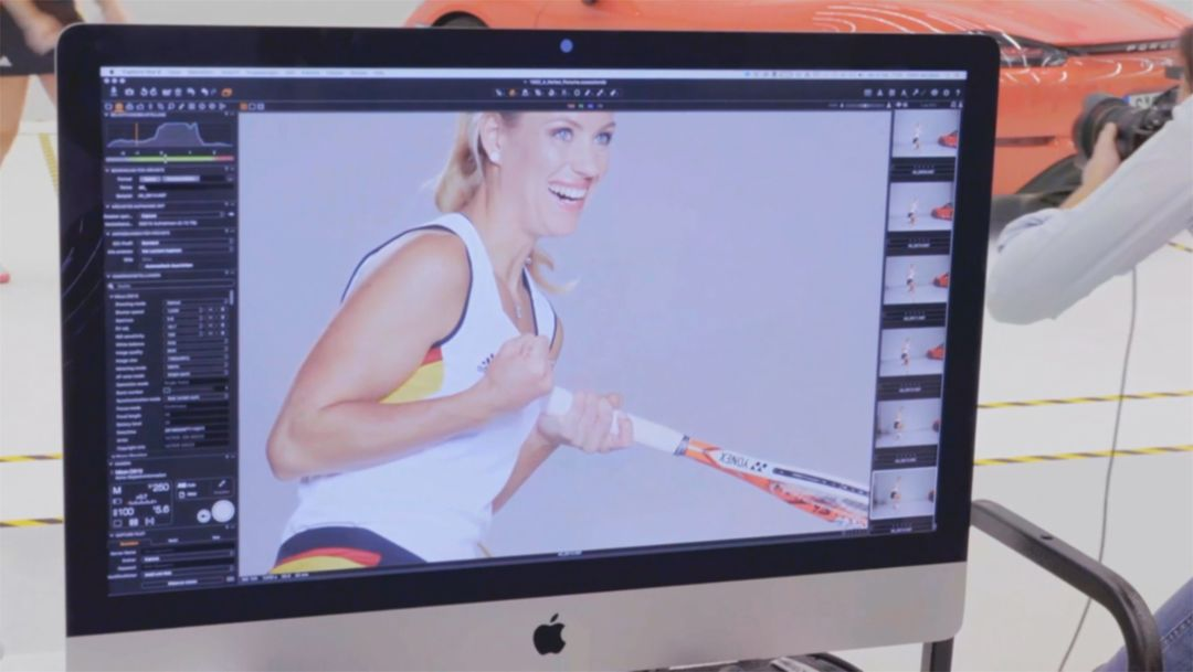 Trailer: photoshooting with Angelique Kerber