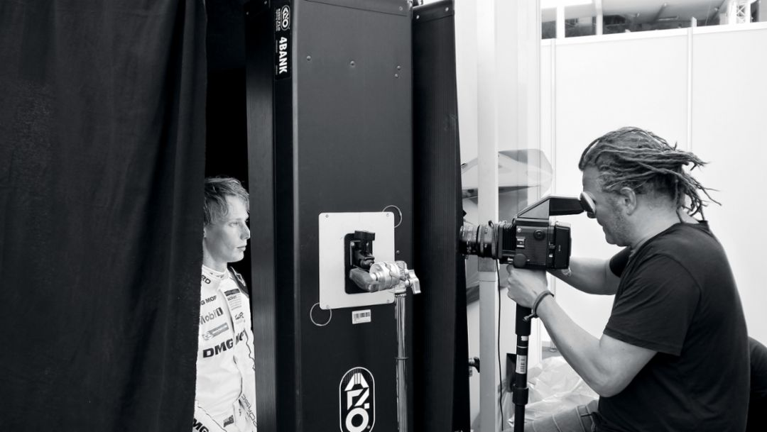 Brendon Hartley, racing driver, Martin Schoeller, photographer, 2018, Porsche AG