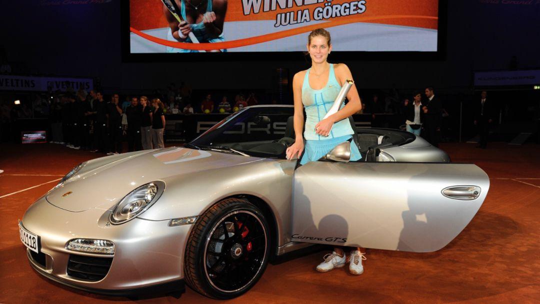 Julia Görges, 911 Carrera GTS Cabriolet, 2011, Porsche AG