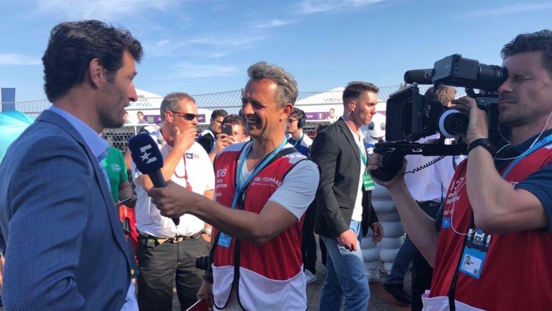 Mark Webber, ABB FIA Formula E, Berlin Tempelhof airport, 2018, Porsche AG