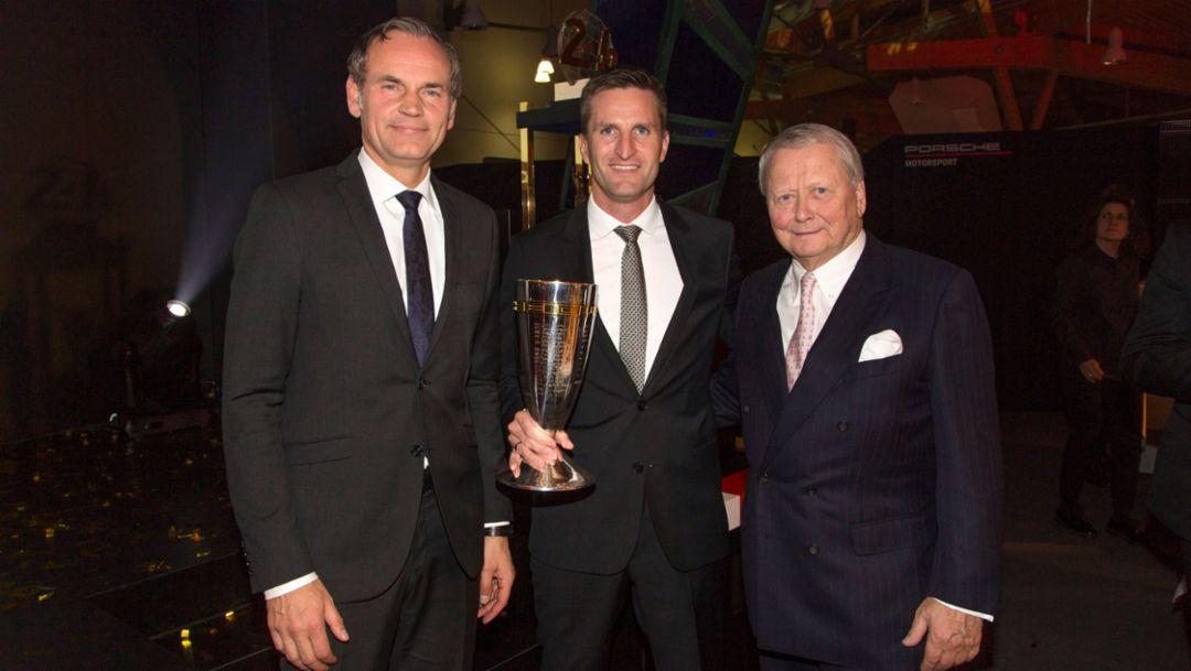 Porsche Cup 2017: Oliver Blume, winner Christian Ried, Dr. Wolfgang Porsche (l-r), Porsche AG