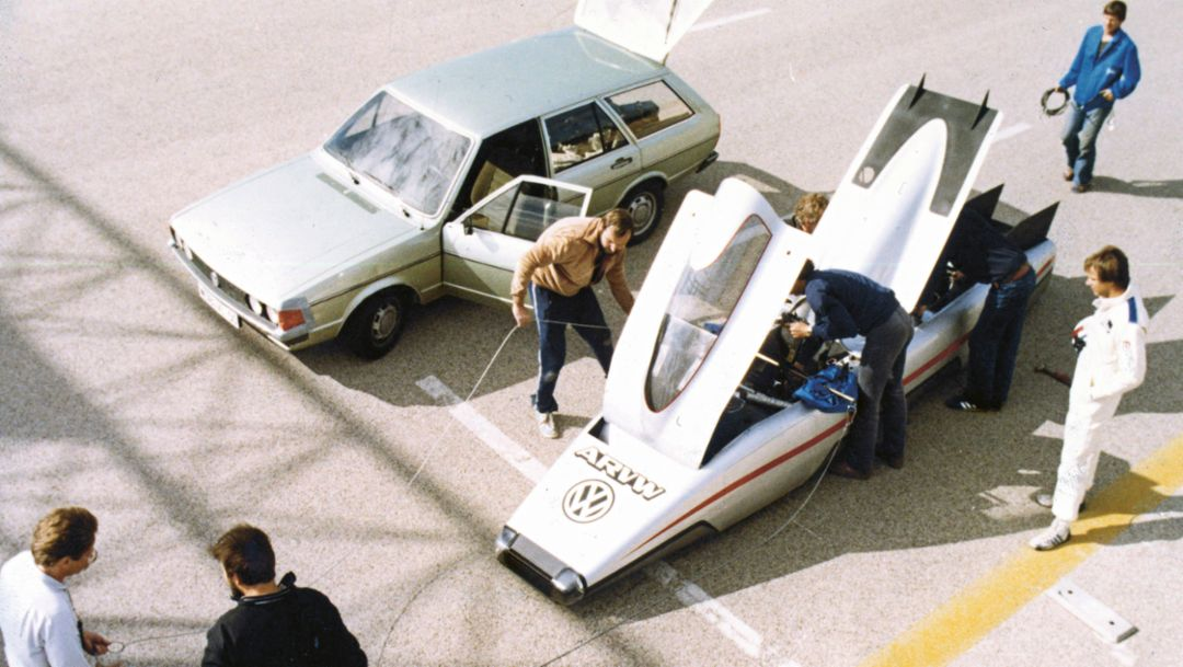 Aerodynamik Research Volkswagen, Nardò Technical Center, 1980, Porsche AG