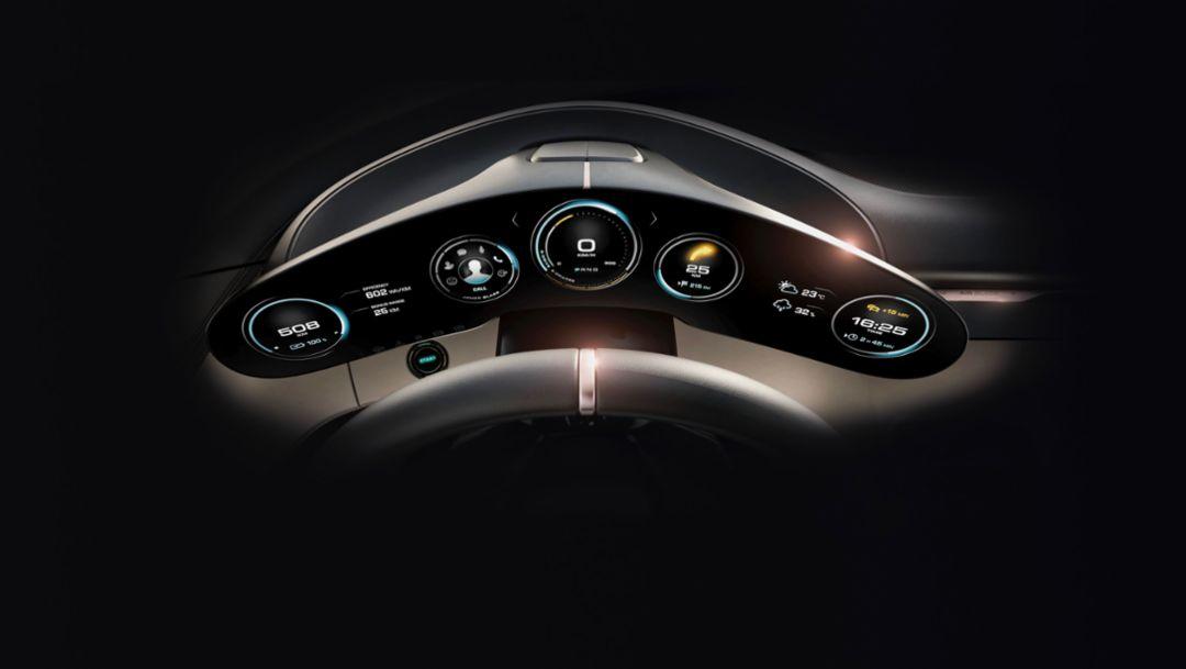 Cockpit Mission E, 2018, Porsche AG