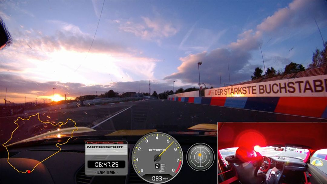 On-board video 911 GT2 RS record lap on the Nuerburgring Nordschleife