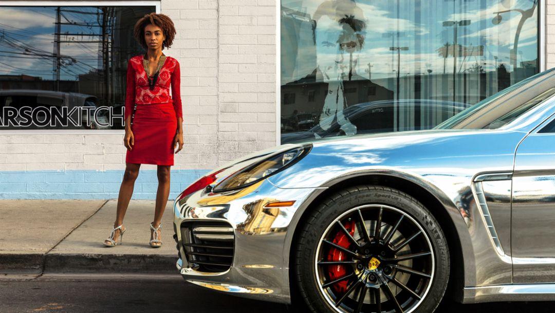 Kayy Nova, Sängerin, Panamera, Las Vegas, 2016, Porsche AG