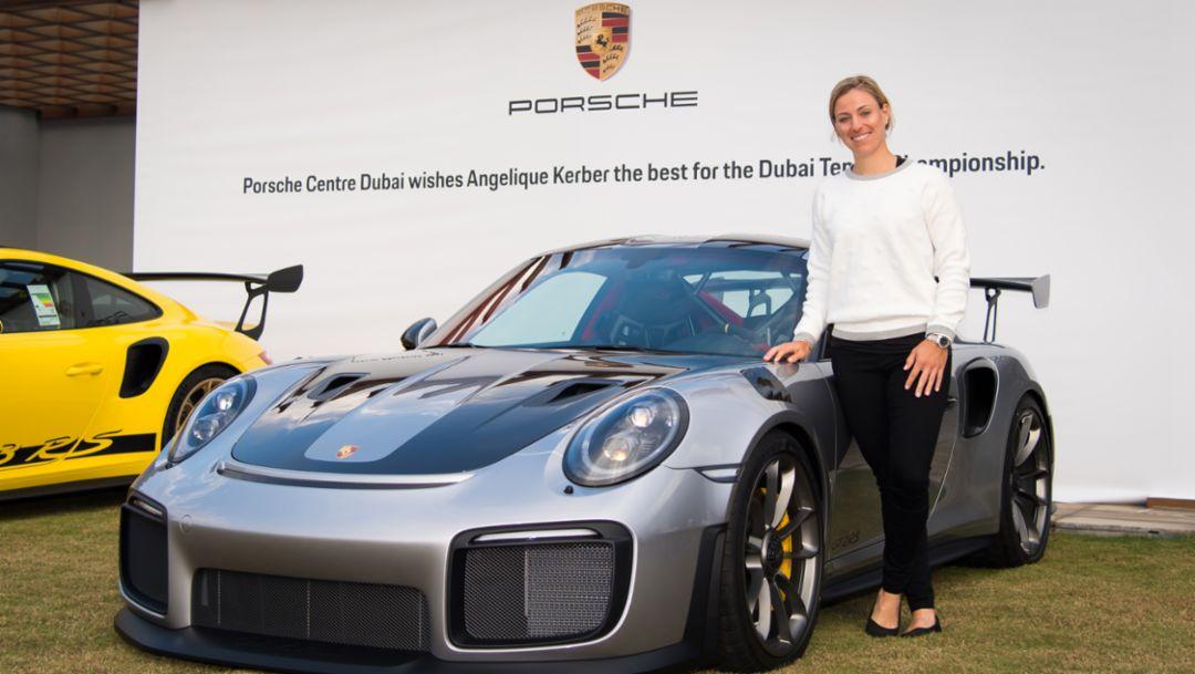 Angelique Kerber visits Porsche Centre Dubai
