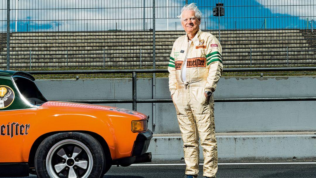 Eckhard Schimpf, Hobby-Rennfahrer und Journalist, Porsche 914/6, Motorsport Arena Oschersleben, 2016, Porsche AG