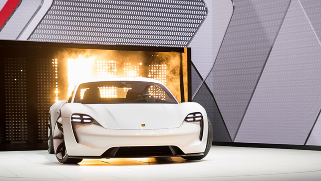 Mission E, Concept Car, Press Conference IAA , Frankfurt, 2015, Porsche AG