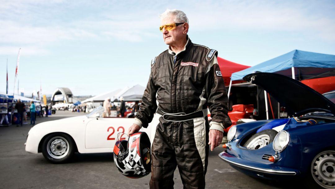 George Batcabe, Racer, Rennsport Reunion VI, WeatherTech Raceway Laguna Seca, California, 2018, Porsche AG