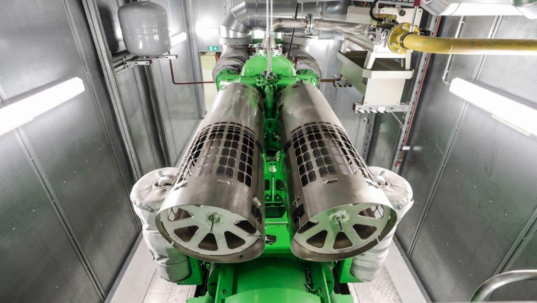 Cogeneration plants on biogas, Zuffenhausen, 2019, Porsche AG