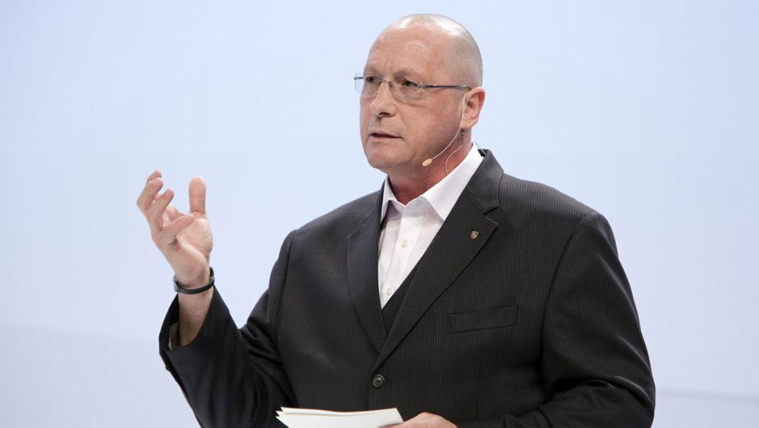 Uwe Hück, Betriebsratsvorsitzender, 2015, Porsche AG