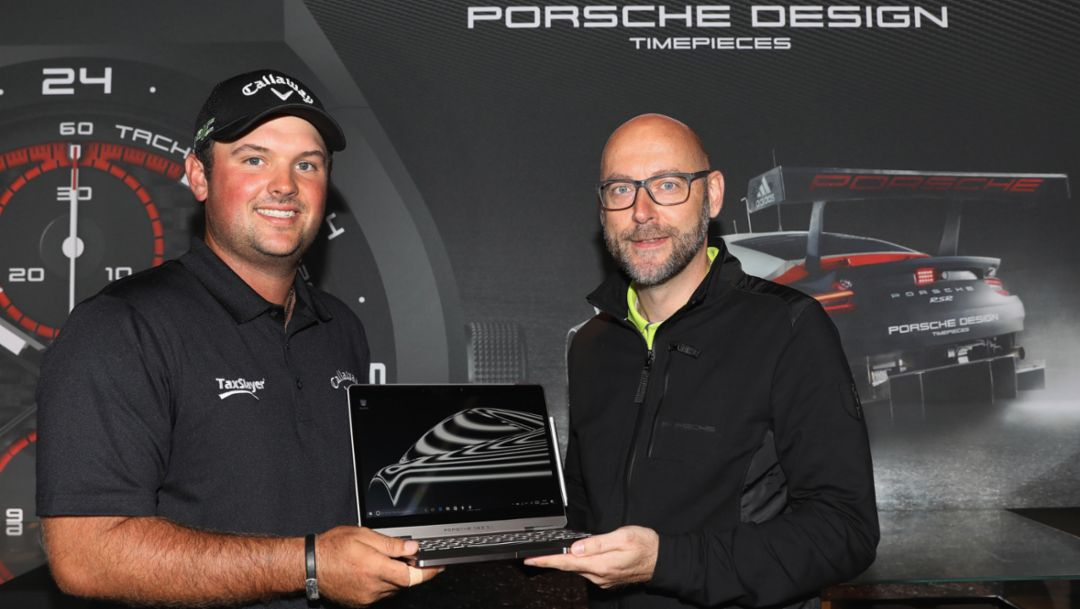 Patrick Reed, Oliver Eidam, Leiter Markenpartnerschaften & Sponsoring der Porsche AG, l-r, Porsche European Open, Hamburg, 2017, Porsche AG