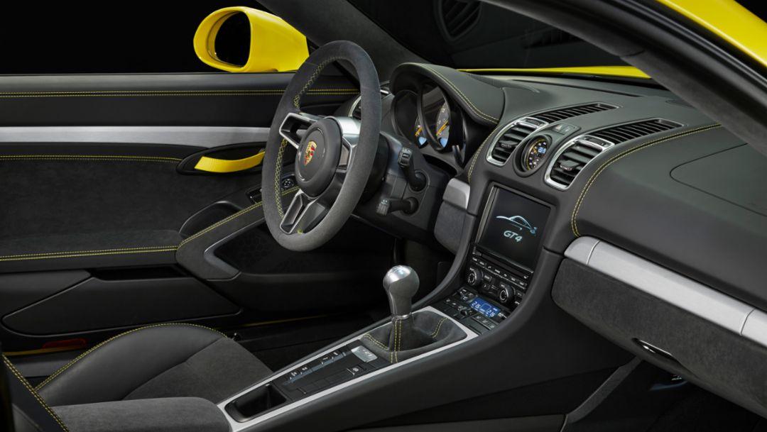 Cayman GT4, interior, 2015, Porsche AG