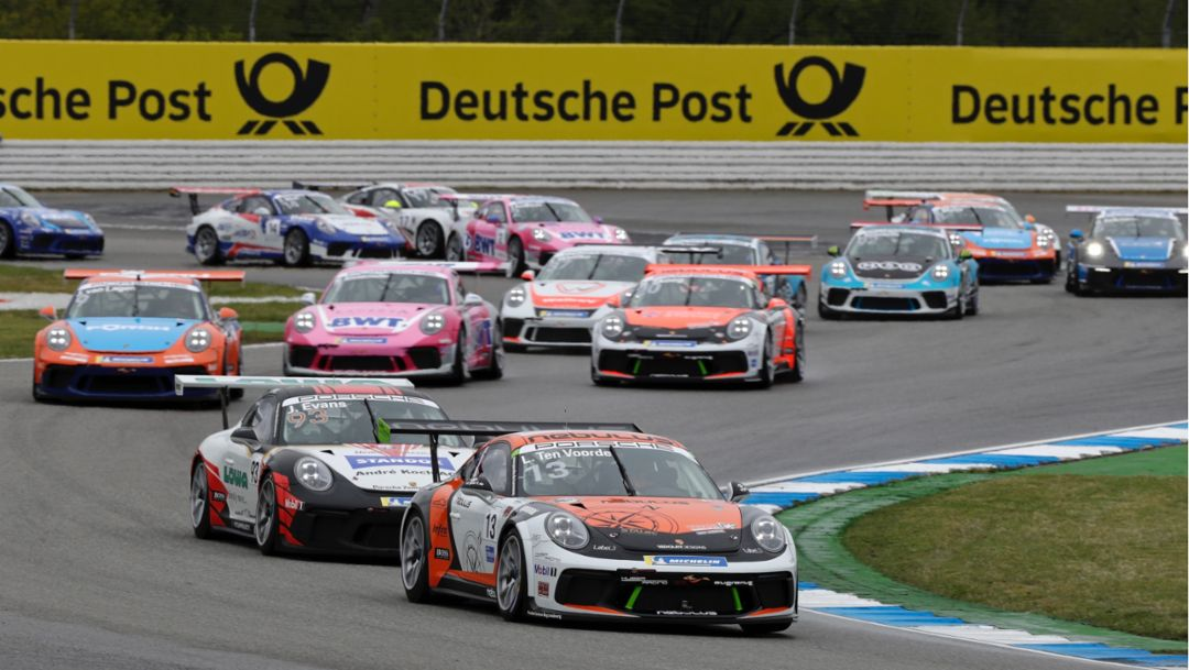 Larry ten Voorde, Porsche 911 GT3 Cup, Porsche Carrera Cup Deutschland, Hockenheim, 2019, Porsche AG